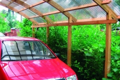 Carport in legno Conwy Single